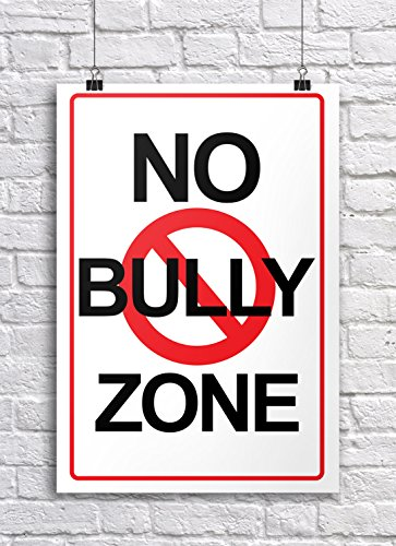 JSC384 No Bully Zone Classroom Poster | 18-Inches By 12-Inches | Premium 100lb Gloss Poster Paper