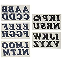 Wrights 8811903 Iron-On Insta Letters, Navy, 1-1/4-Inch