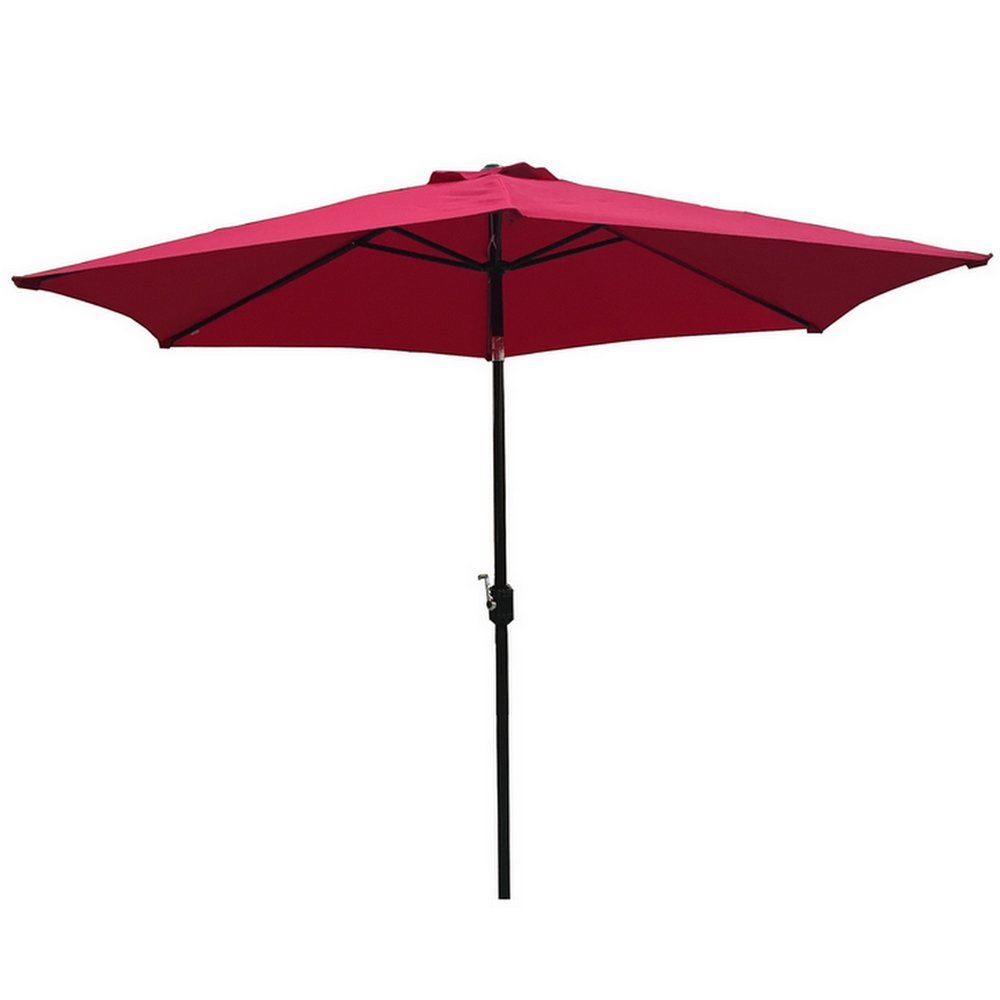 Palm Springs 9ft Aluminium Patio Umbrella w/Tilt (Burgundy)