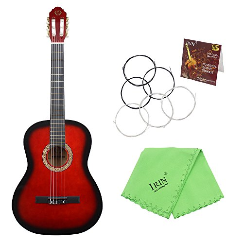 ammoon 39'' 6-String Classical Guitar Solid Wood Basswood 19 Frets Nylon Copper Alloy String for Music Lover Student Beginner by ammoon