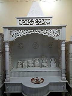 Buy Eshilp White Marble Home Temple Pooja Mandir 15 2 Cm X 9 5 Cm X