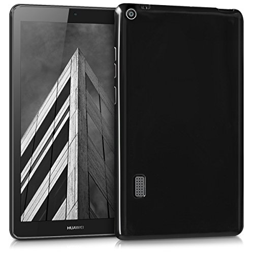 kwmobile Crystal TPU Cover Compatible with Huawei MediaPad T3 7.0 - Mobile Cell Phone Case - Black