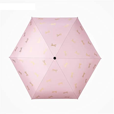 Paraguas Plegables Mini Ultra Ligero Paraguas Pequeño Sol Protección Solar UV Mujer Plegable Protector Solar Negro