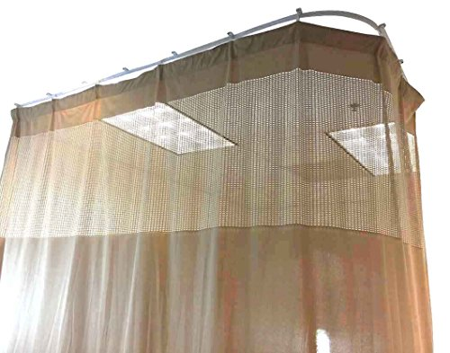 Medical Curtains Privacy Hospital Cubicle Curtain With Flexible Track 10 Foot W x 9.3 Foot H (Height Privacy Cubicle Curtain)