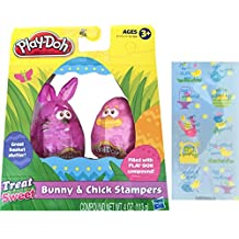 Crayola Easter Play-Doh Bunny&Chick Stampers Great Basket Stuffer & Stickers
