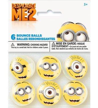 2' Bouncy Ball (Despicable Me 2 Bounce Favor Balls – 6 Count)