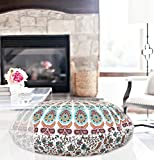 32'' Brown Pink Mandala Floor Pillow Cushion Seating Throw Cover Decorative Bohemian