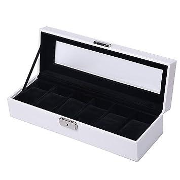 HKHJ Cajas para Relojes con 6 Compartimentos Estuche para ...