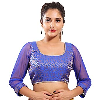 20c2a1bb750739 Singaar Net Blouse: Amazon.in: Clothing & Accessories