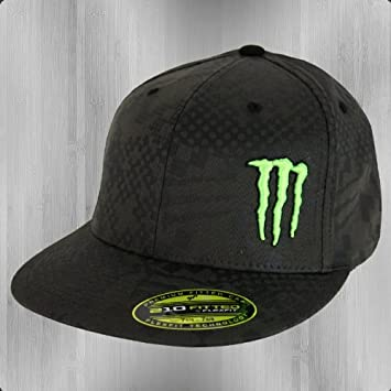 1c2a7f3a26 Monster Energy Men s Baseball Cap Black Grey Green S M 6 7 8-7 1 4   Amazon.co.uk  Sports   Outdoors
