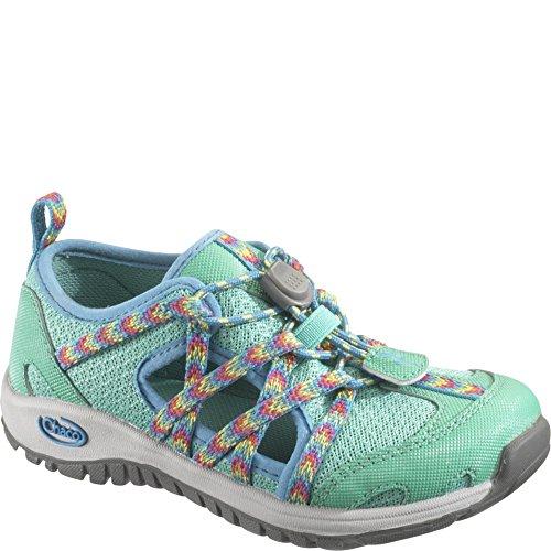 Chaco Ootcross Kids Hiking Shoe (Toddler/Little Kid/Big Kid), Marine Green, 4 M US Big Kid - Chaco Hiking Sandals