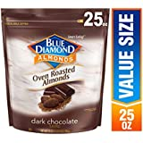 Blue Diamond Oven Roasted Cocoa Almonds, Dark Chocolate Flavor, 25 Ounce