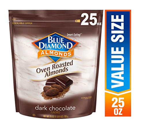 - Blue Diamond Almonds, Oven Roasted Cocoa Dusted Almonds, 25 Ounce