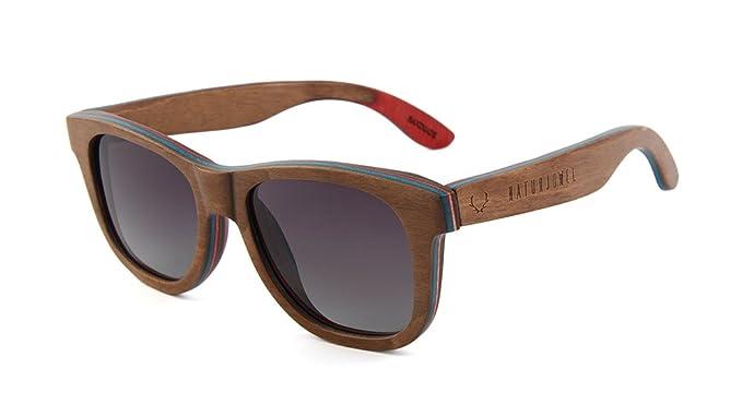 a98a032272 NATURJUWEL - Gafas de sol madera Skateboard polarizadas UV 400 marrón mujer  y hombre unisex: Amazon.es: Ropa y accesorios