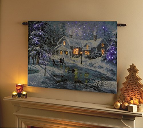 Winters Eve Tapestry (Christmas Tapestry with LEDs and Timer - A Fine Winter's Eve by Premier Decorations)
