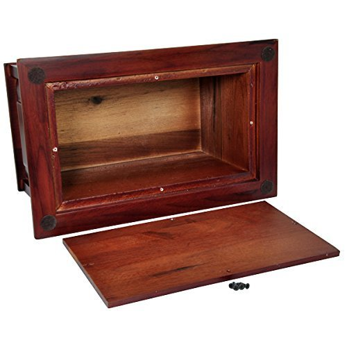 Memorial Gallery Pets M-010 Classic Cherry Finish Raised Panel Pet Cremation Wood Urn