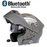 DYM258 Modular Motorcycle Helmets Bluetooth+FM DOT Certification Flip Up Touring Helmets Built-in Dual-Speaker