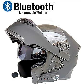 Amazon.com: DYM258 Modular Motorcycle Helmets Bluetooth+FM