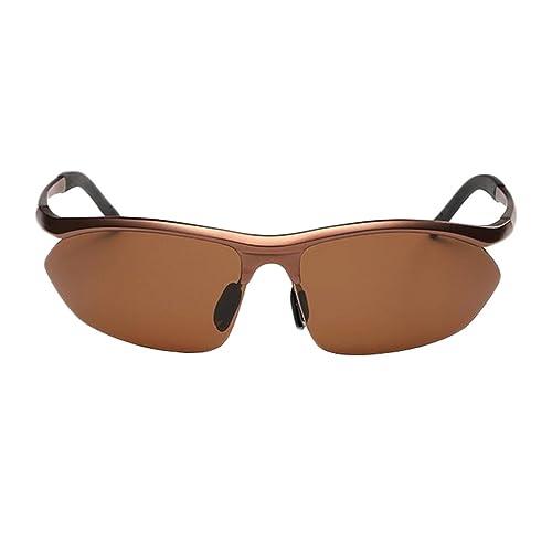Gafas De Sol Semi-magnesio Marco De La Aleación De Los Hombres Al Aire Libre Tamaño: 152 Mm