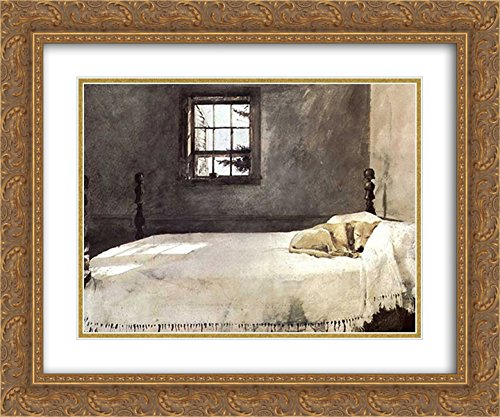 Master Bedroom, c.1965 2X Matted 23x20 Gold Ornate Framed Art Print by Andrew Wyeth