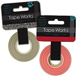 Removable Highlighter Tape Value Pack: 2 Rolls -- 100 Ft Total (1 Red Tape Roll, 1 Zebra Tape Roll)
