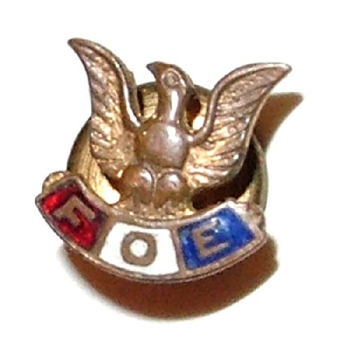 Old F.O.E. Fraternal Order of Eagles Enameled Tie Tack / Lapel Pin