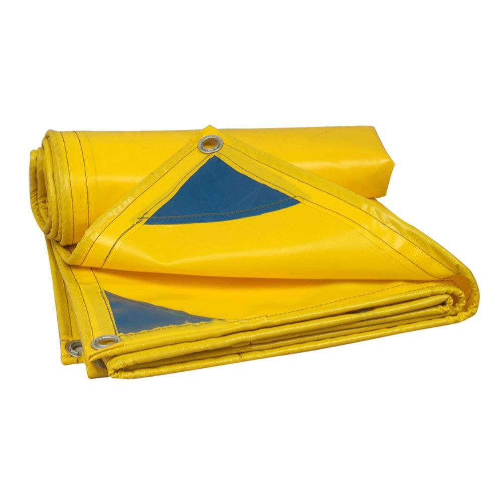 Planen Dicker Regenschutz Plane mit Ösen Sonnenschutz Plane Wasserdicht Schuppen Tuch Markise Camping 500 g m2 gelb Planen