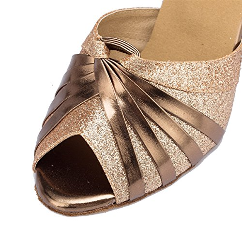 Leather Salsa Chunky Ankle Womens eu35 Chaussures Sandals Femmes Buckle Heel uk4 Latine Dquietness gold Ballroom De Strappy our36 Suede Danse Cow Tango Mode qpXvx8