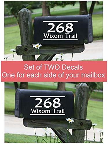 Mailbox Address Decal Set of 2 Insert Street Name /& Address Personalized Sticker