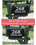 Personalized Vinyl Mailbox Decals Letters Custom Street Address Stickers, Set of 2 Basic