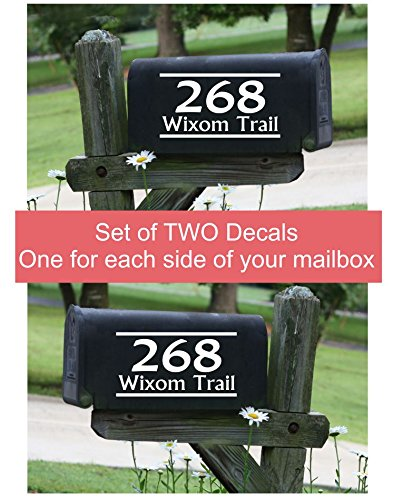 Personalized Vinyl Mailbox Decals Letters Custom Street Address Stickers, Set of 2 Jumbo by Wall Decor Plus More (Image #9)
