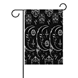 AURELIOR Alchemy And Magic Moon Pattern Garden Flag Double-Sized Print Decorative Holiday Home Flag , 28 x 40 Inches