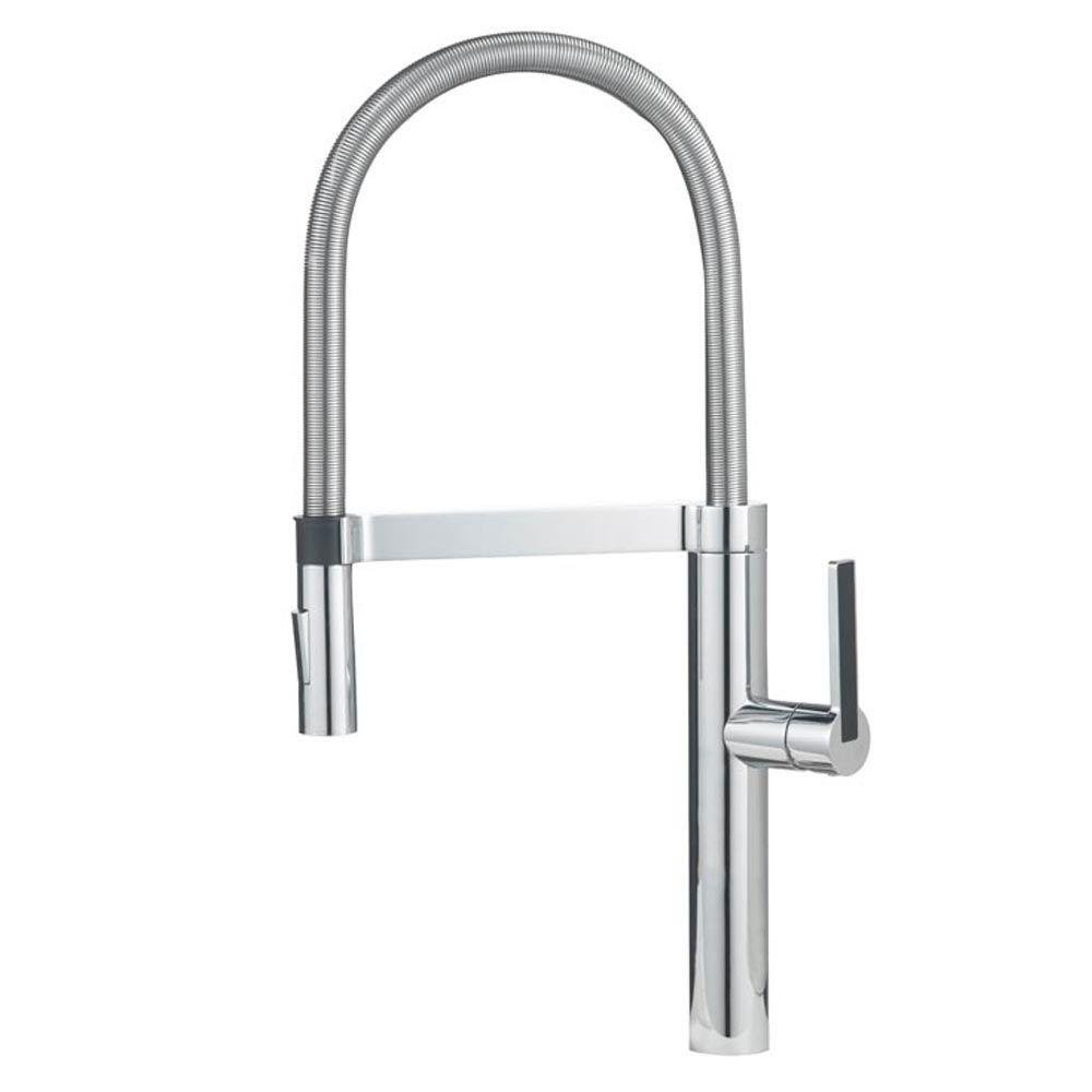 Merveilleux Blanco 441332 Culina Semi Pro Kitchen Faucet, Satin Nickel   Touch On  Kitchen Sink Faucets   Amazon.com