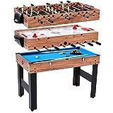 Lancaster 48' 3 in 1 Pool Billiard Slide Hockey Foosball Combo Arcade Game Table