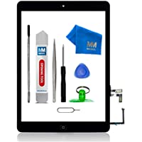 MMOBIEL Digitizer Repair Kit Compatible with iPad Air (Black) Touch Screen Front Display Assembly Incl Home Button Flex…