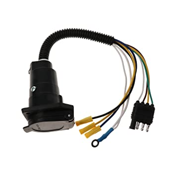 Sharplace Adapterstück 4 Kabel 7 polig Stecker Stromversorgung ...