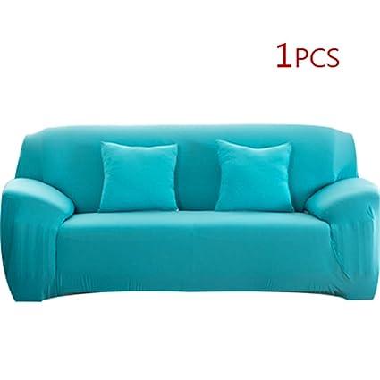 Taozibi Funda de sofá elástica de Color sólido Universal ...