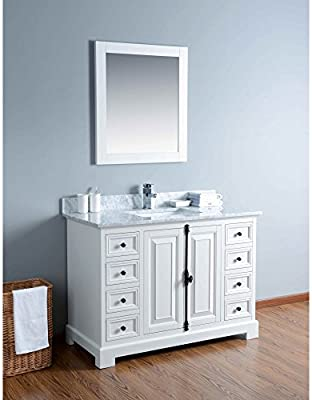Bosconi Bathroom Vanities Dovetail Construction Single Vanity With Soft Closing Drawers And Marble Countertop 48 Kwh4048cmu 4 Amazon Ae
