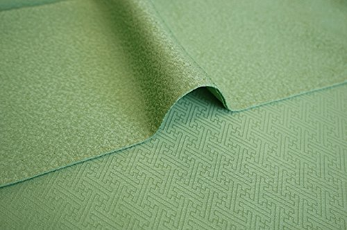 博多着物市場 きものしらゆり ちりめん 浅緑色 色無地 正絹 仕立て上がり