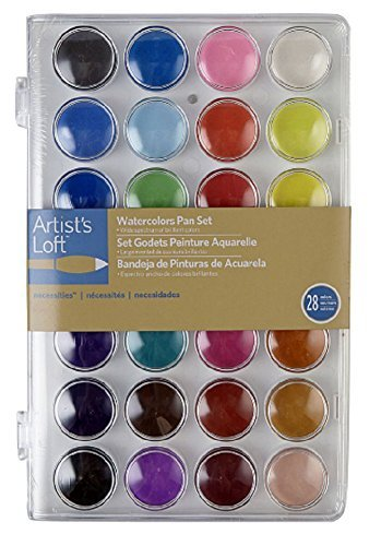 Artist's Loft Fundamentals Necessities Watercolor Pan Set 28 Color