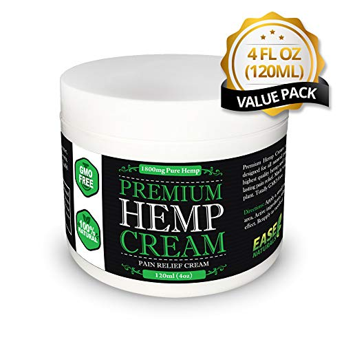 Premium Organic Hemp Extract Cream For Pain Relief - 1800mg of Hemp Extract - All Natural - Arthritist Relief, Knee Pain, Muscle Pain, Back Pain, Joint Pain, and MORE...