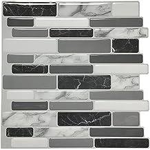 "Art3d Peel and Stick Wall Tile for Kitchen Backsplash, 12""x12"", (10 Tiles)"