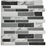 "backsplash for kitchen  Peel and Stick Wall Tile for Kitchen Backsplash, 12""x12"", (10 Tiles)"