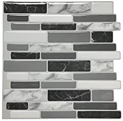 Easy DIY peel and stick tile concept of mosaic sticker smart tile is made of an adhesive substrate topped with a gel component called PU resin, the embossed 3d PU resin offers stunning visual impact. the tiles are thin and light, they can be ...