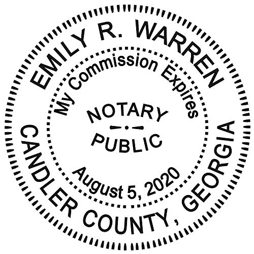 - Round Notary Stamp for State of Georgia- Self Inking Stamp - Top Brand Unit with Bottom Locking Cover for Longer Lasting Stamp - 5 Year Warranty