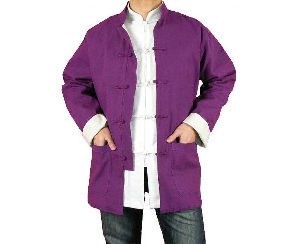 100% Cotton Purple Kung Fu Martial Arts Tai Chi Jacket Coat XS-XL or Tailor Custom Made + Free Magazine