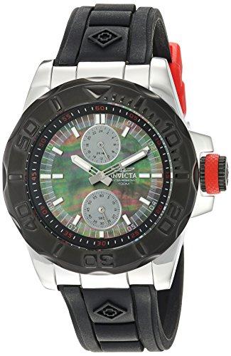 Invicta Men's 'Pro Diver' Quartz Stainless Steel and Silicone Casual Watch, Color:Black (Model: 24985) from Invicta