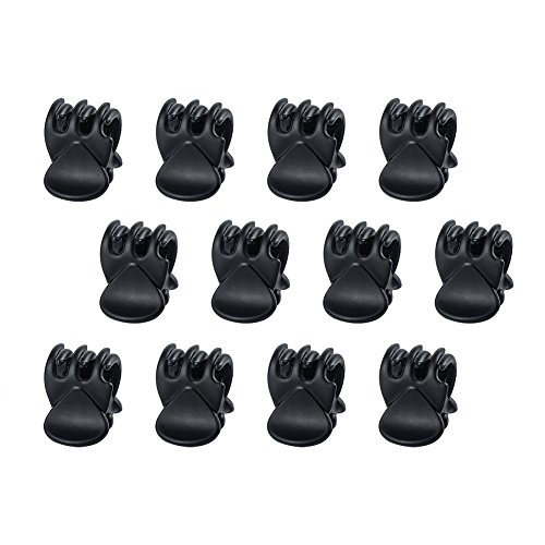 CINEEN Small Hair Clips, Mini Hair Clips 12PCS Mini Hair Claw Clips Plastic Matte Durable Hair Clips For Girls & Women used to Organize Hair, (Black)