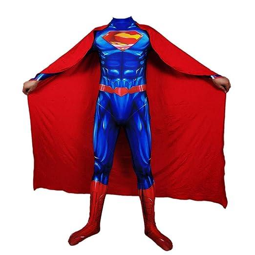 WOLJW Adultos niños Superman Acero Medias Cuerpo Cosplay ...