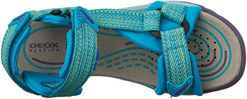 Geox J Borealis Girl A - Zapatos primeros pasos para bebés Verde - Vert (C3003)